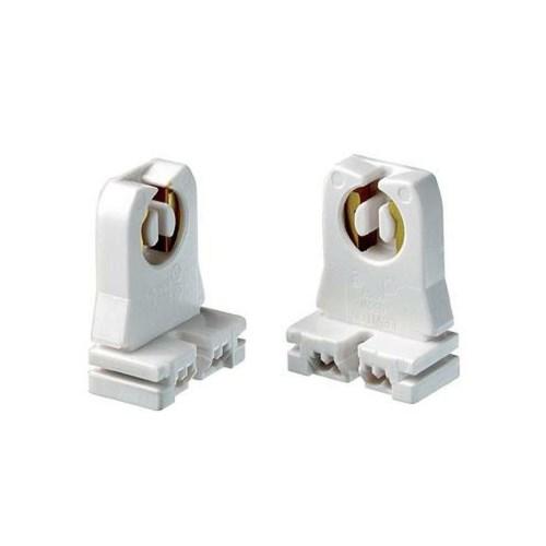 Lot 4 Leviton Fluorescent Tube Push Wired Lamp Holders 2-Pin Bi-Pin T8//T10//T12